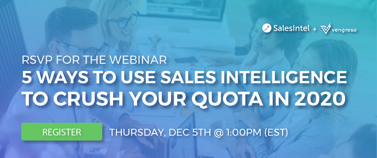 Dec 5th Webinar - salesintel and vengreso
