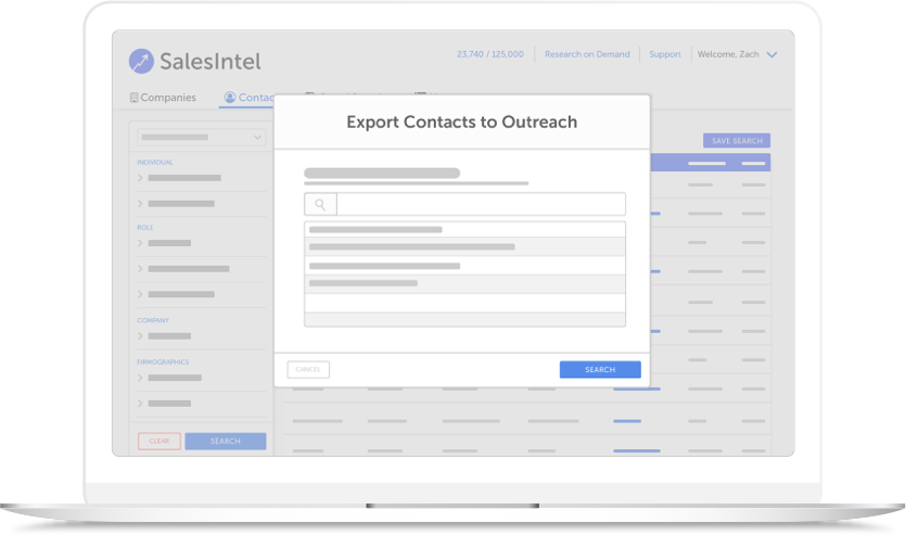 Features - Export to Outreach