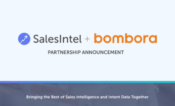 SalesIntel Partners with Bombora to Power-up Sales Intelligence with B2B Buyer Intent Data